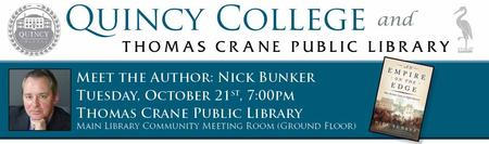 Quincy College Meet the Author Night with Nick Bunker