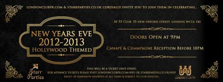New Years Eve 2012/13 at 55 Club London | Hollywood...