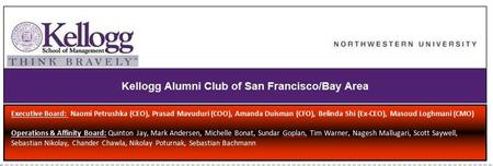Kellogg Alumni Club of San Francisco and Silicon Valley