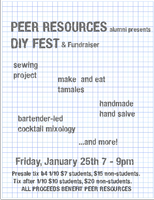 Peer Resources DIY Fest and Fundraiser!