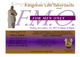 KLT-FMO (For Men Only): Real Talk, With Real Men