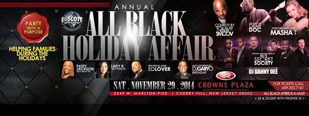 All Black Holiday Charity Affair, Thanksgiving...