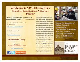 Introduction to NJVOAD and Sandy Relief Information
