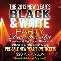2013 New Years Eve Black & White Party