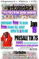#WelcomeBack Party and Scholarship Fundraiser
