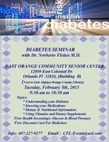 DIABETES SEMINAR with Dr. Norberto Fleites M.D.