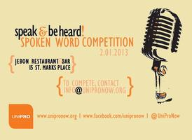 Speak & Be Heard! Spoken Word Competition