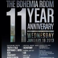 The Bohemia Room 11 Year Anniversary & Monthly Artist...