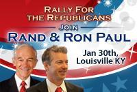 Rand & Ron Paul Rally for the Republicans in Louisville