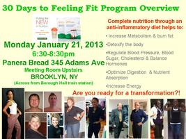 30 Days to Feeling Fit! Program Overview