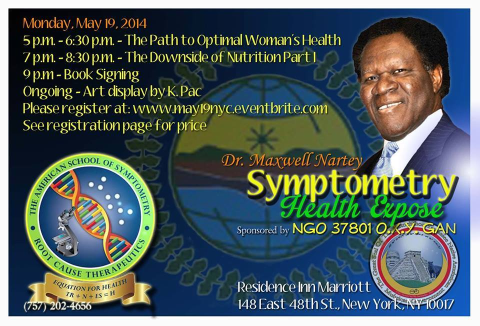 Dr. Maxwell Nartey, NGO, United Nations, Guest Speaker, The Downside of Nutrition, The Path to Optimal Women's Health