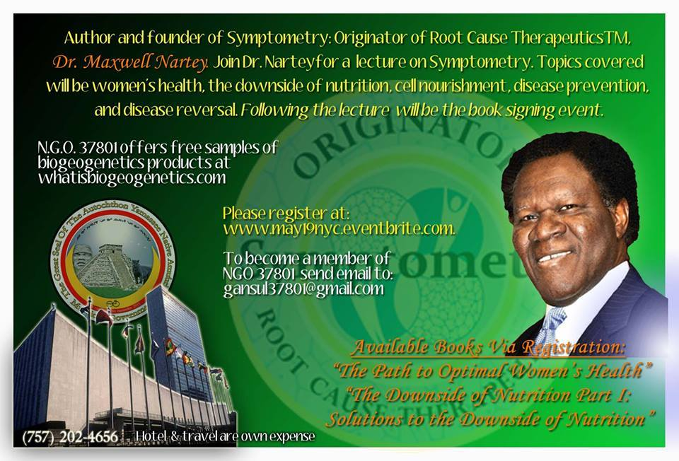 Author, Founder of Symptometry, Dr. Maxwell Nartey, New York City, United Nations Conference