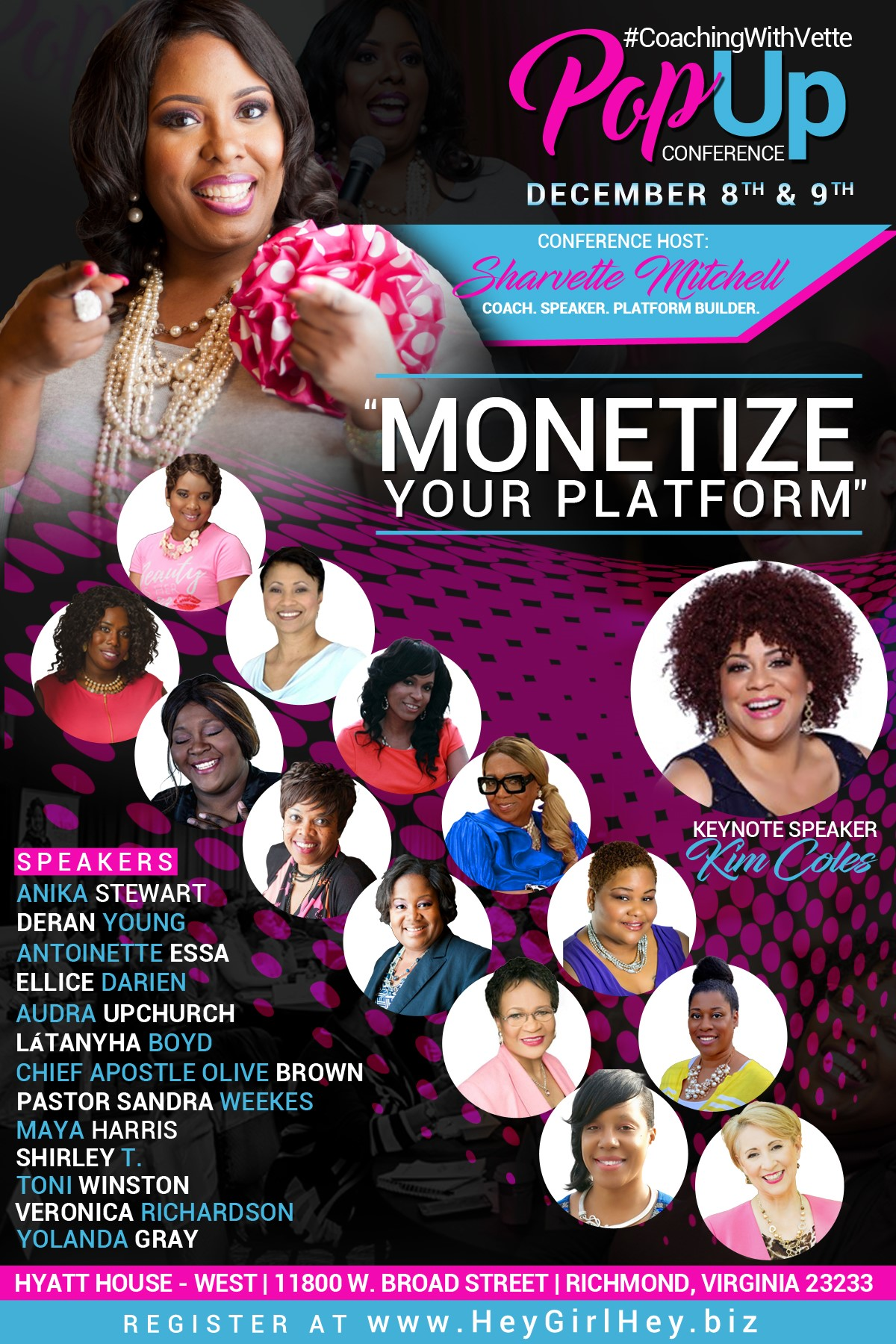 POP UP Conference hosted by Sharvette Mitchell