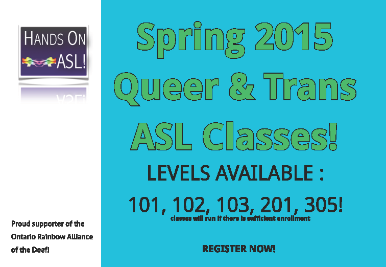 Queer & Trans* ASL Classes Spring 2015