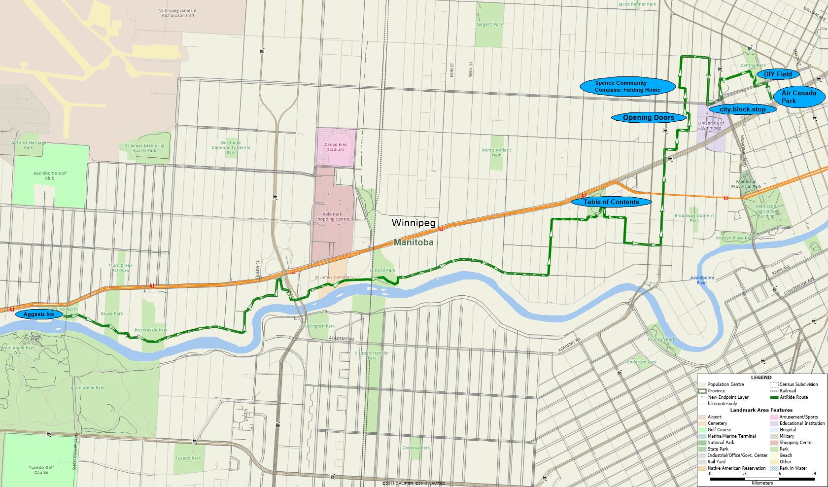 Map of September 29 Public Artwork Tour