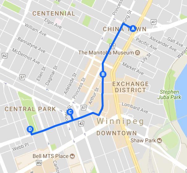 Public Art Tour Route June 19, 2018