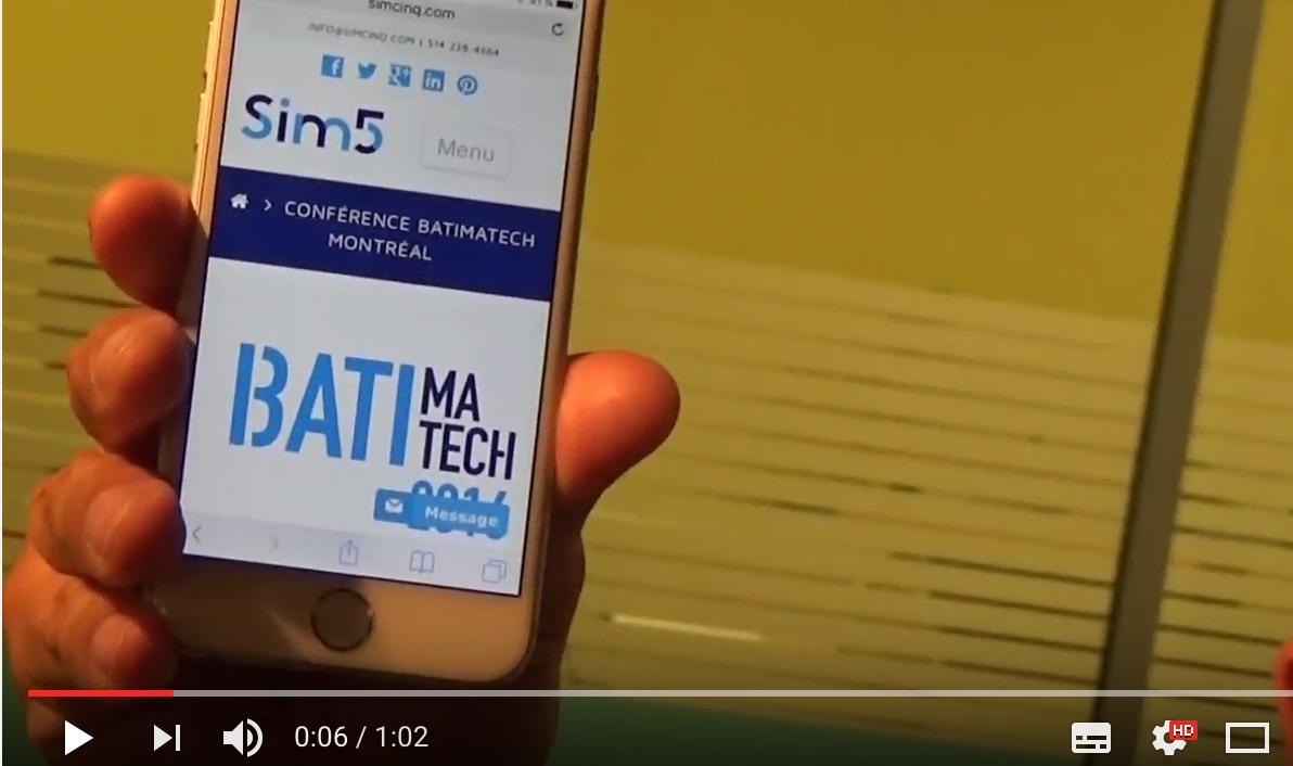 Batimatech 2016 Montréal Vidéo