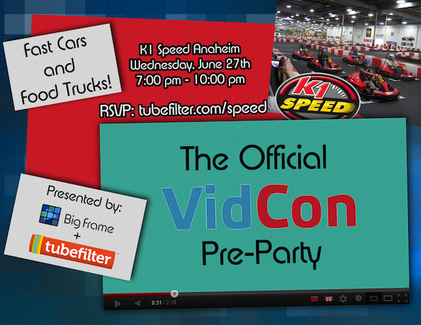 K1 Speed Official 2012 Vidcon Pre Party Go Karts And