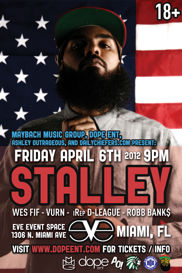 Stalley Live at Eve Miami Flyer