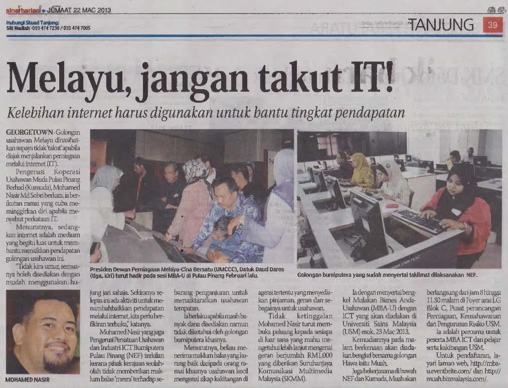 Melayu jangan takut IT !