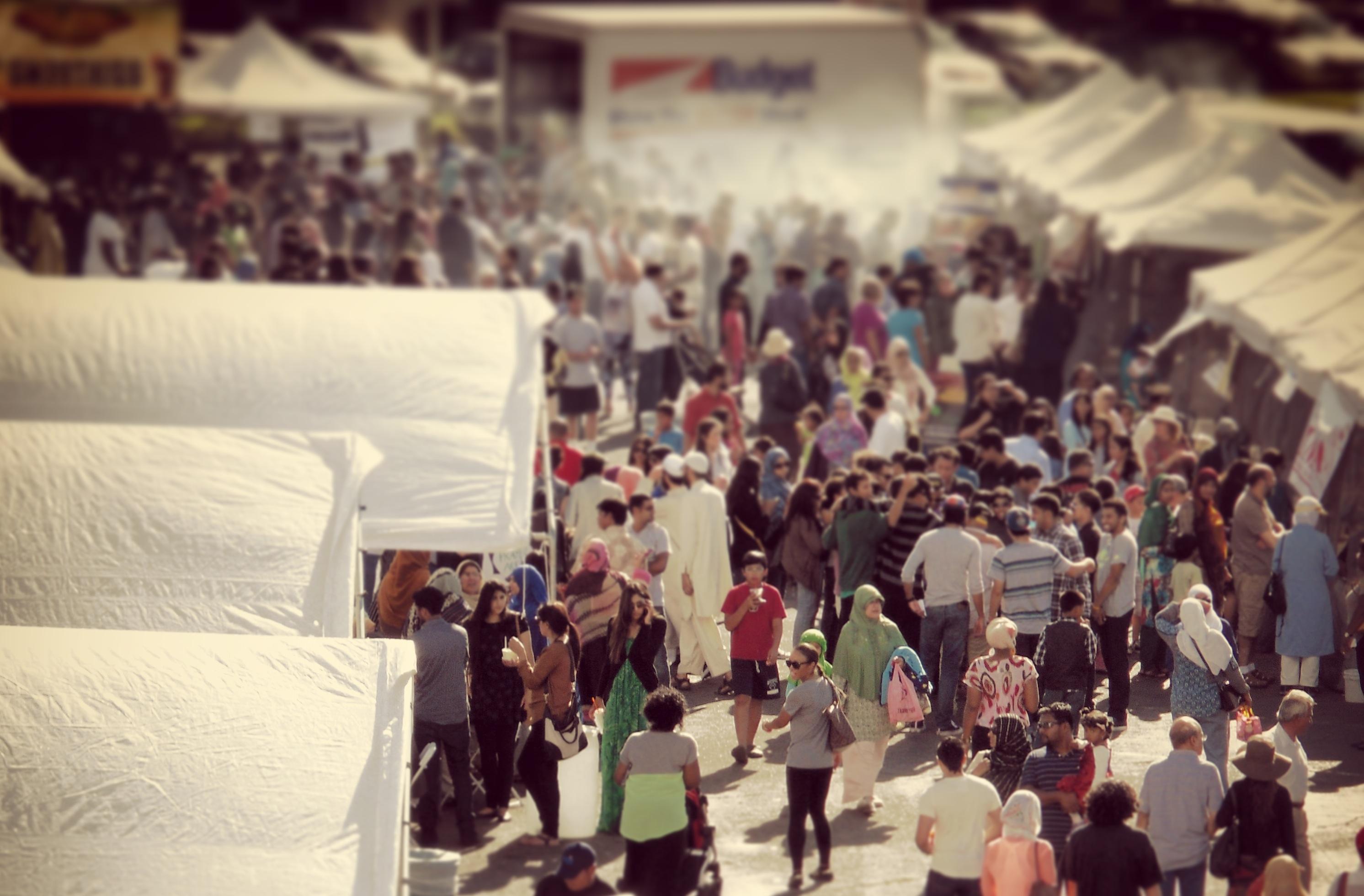 the crowds at Halal Fest 2013