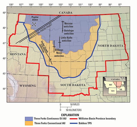 Bakken Region Map