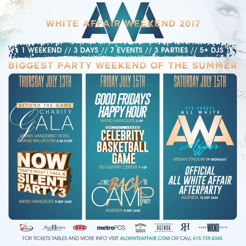 ALL WHITE AFFAIR AFTERPARTY 9 Tickets Sat Jul 15 2017 at 1000