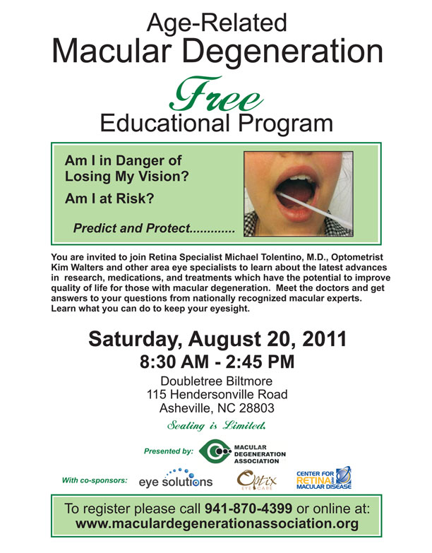 Ashville, NC educational symposium flyer