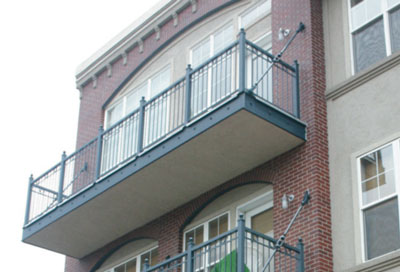 photo of a cantilevered balcony