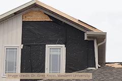 Wind Damage - Image credit Dr. Greg Kopp, Western University