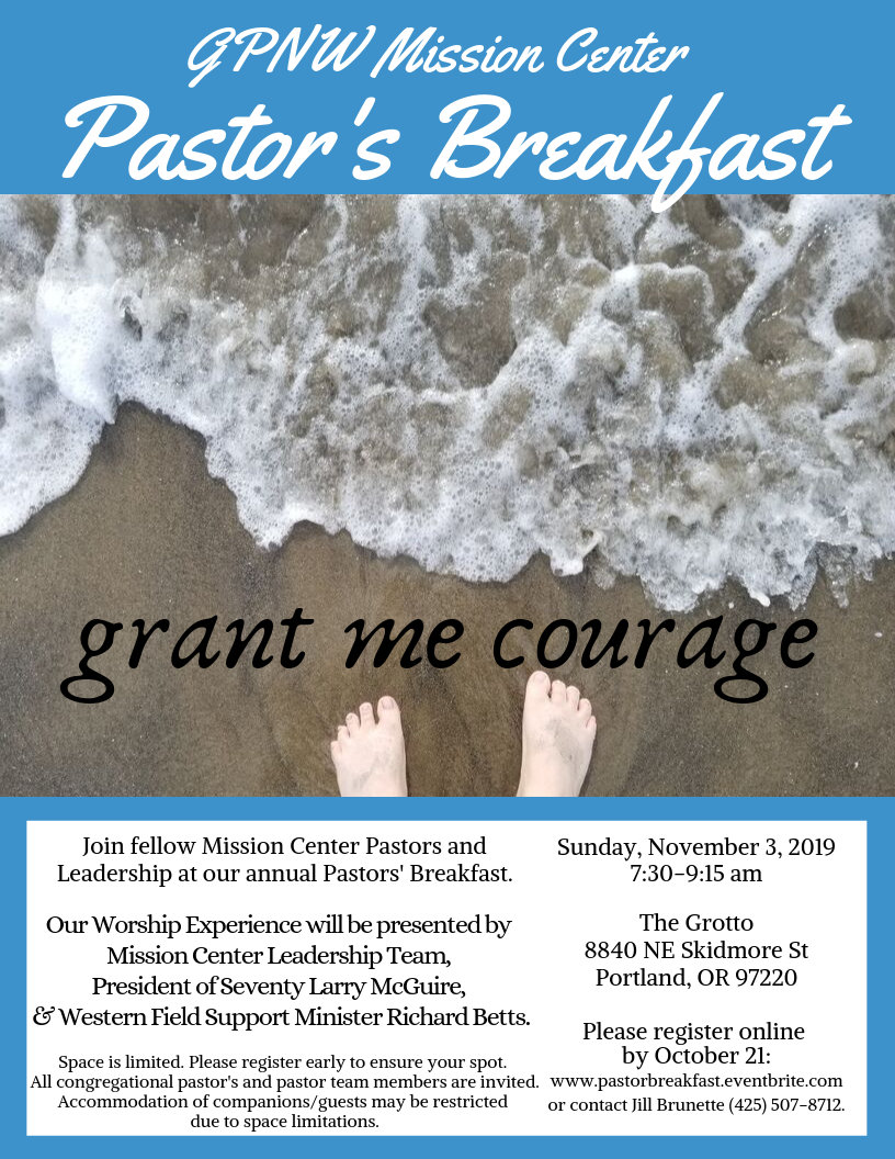 Flyer Announcement for GPNW Mission Center Annual Pastor's Breakfast