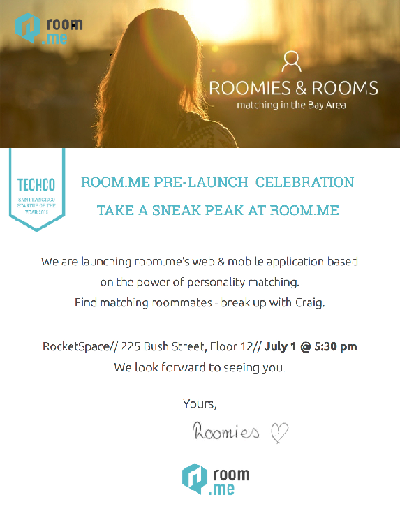 Room.me Launch Pre-Party