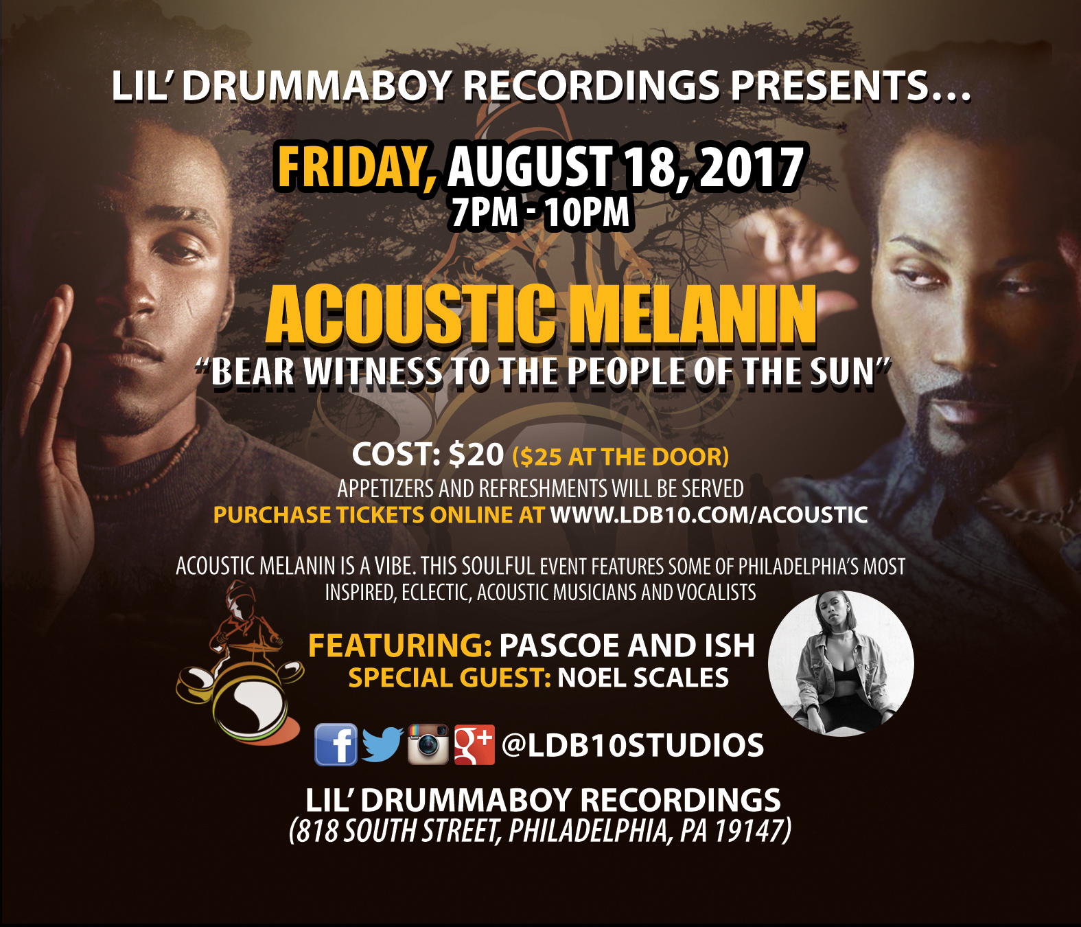 Acoustic Melanin - an intimate concert and networking event
