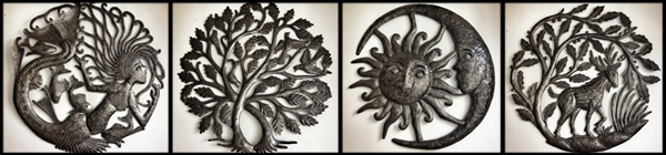 Metal artwork from Haiti