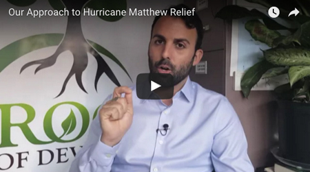 Our Approach to Hurricane Matthew Relief