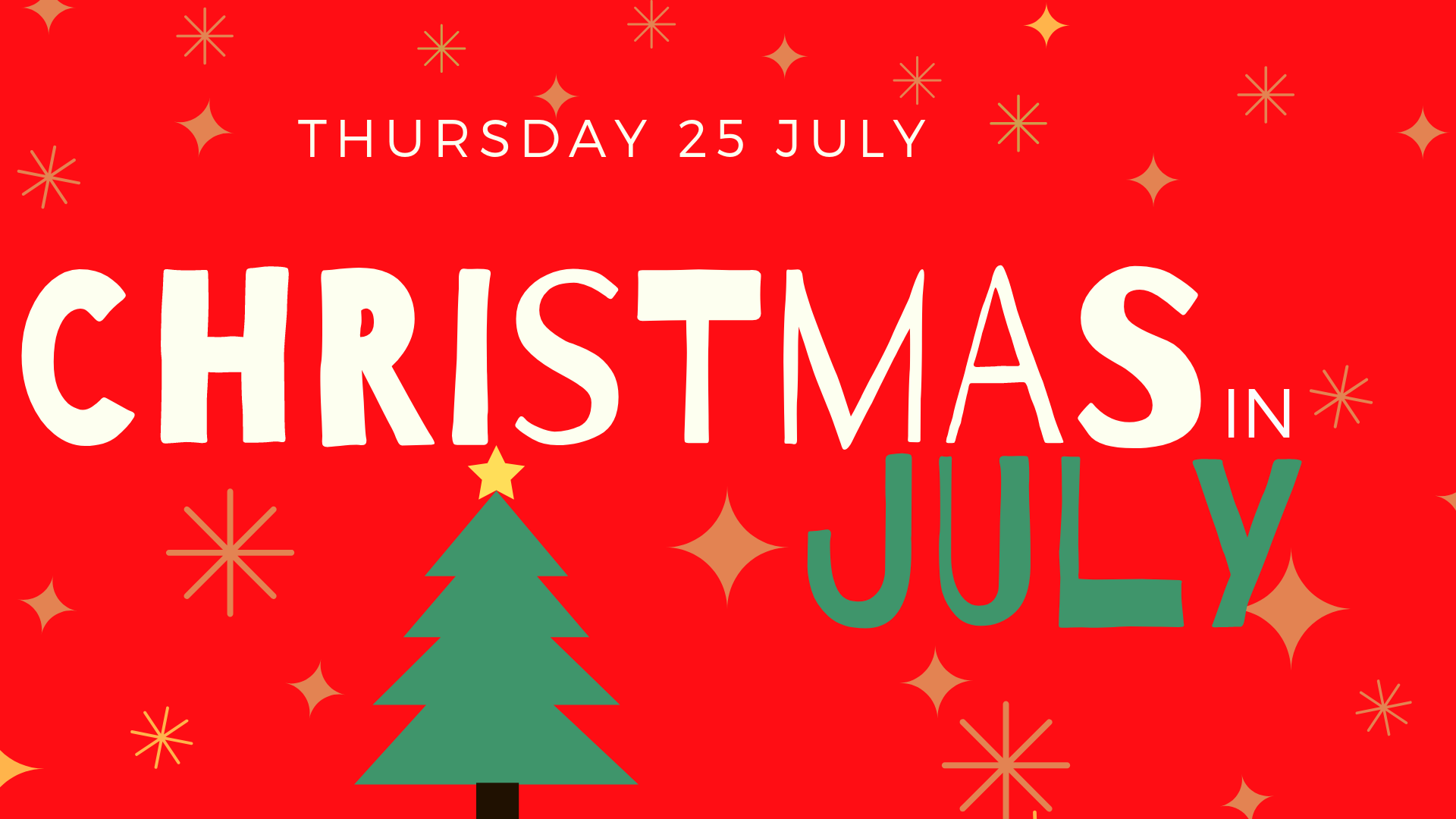 Christmas in July dinner event