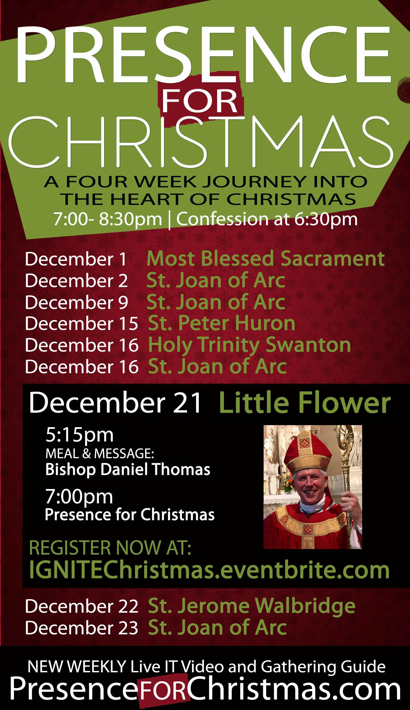 Presence for Christmas with Bishop Daniel  Thomas
