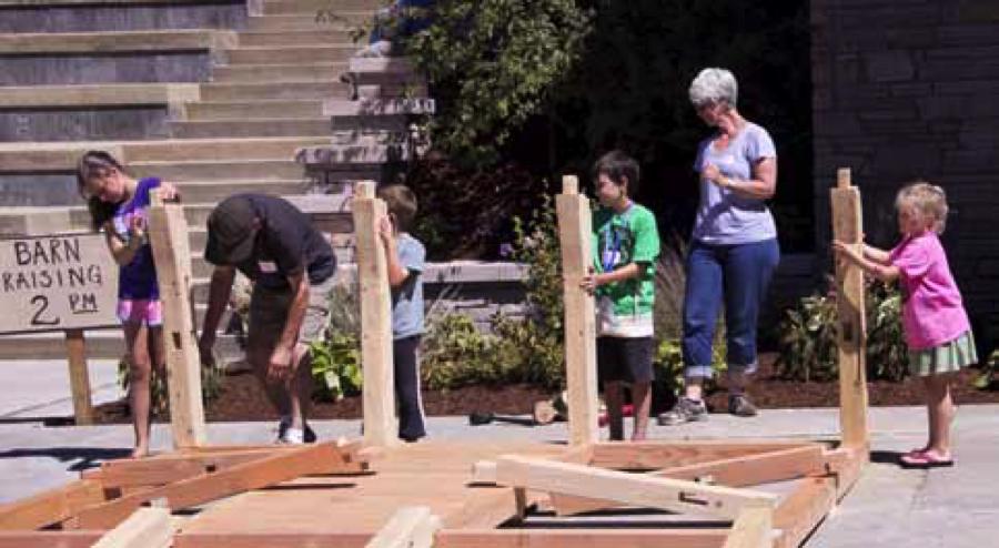 Kids assembling a frame. (2013)