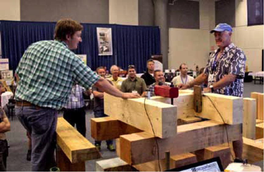 Joe Miller and Ben Brungraber conduct shear testing. (2013)