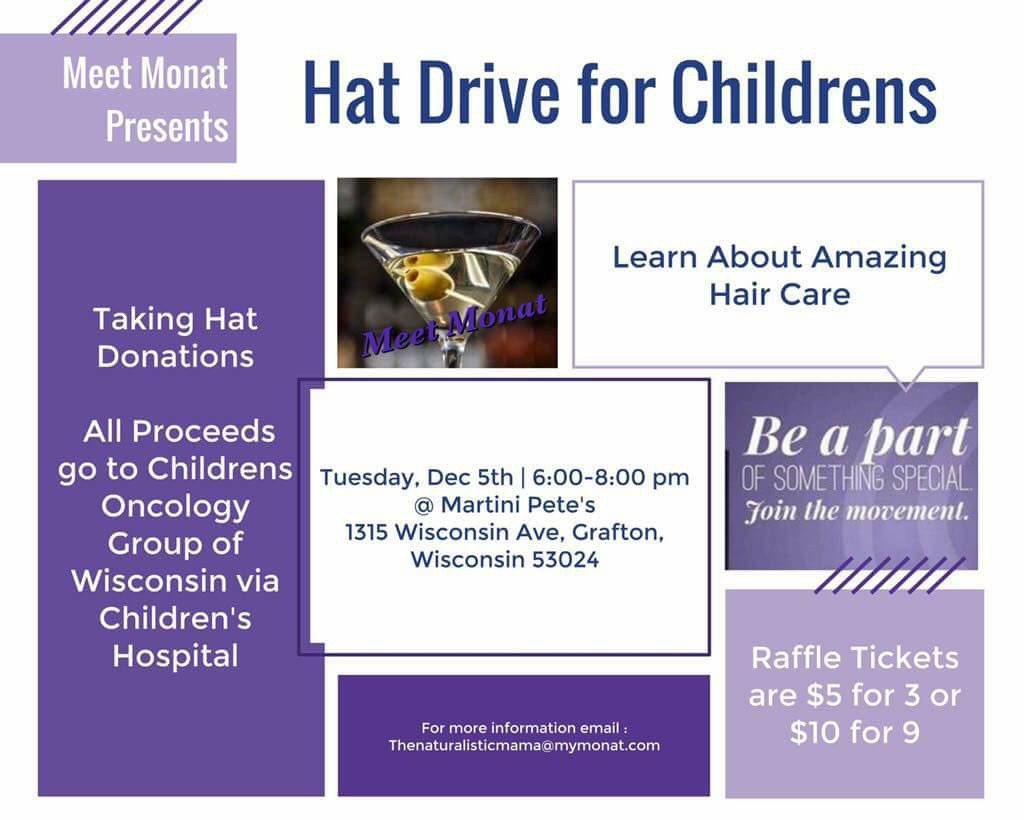 Meet Monat Hat Drive for Children's Oncology Group