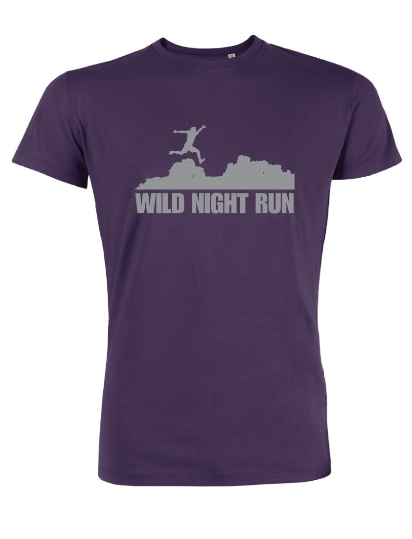 WNR Series t-shirts (plumb and reflective silver)