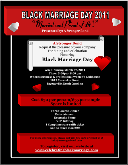 Black Marriage Day 2011 Flyer