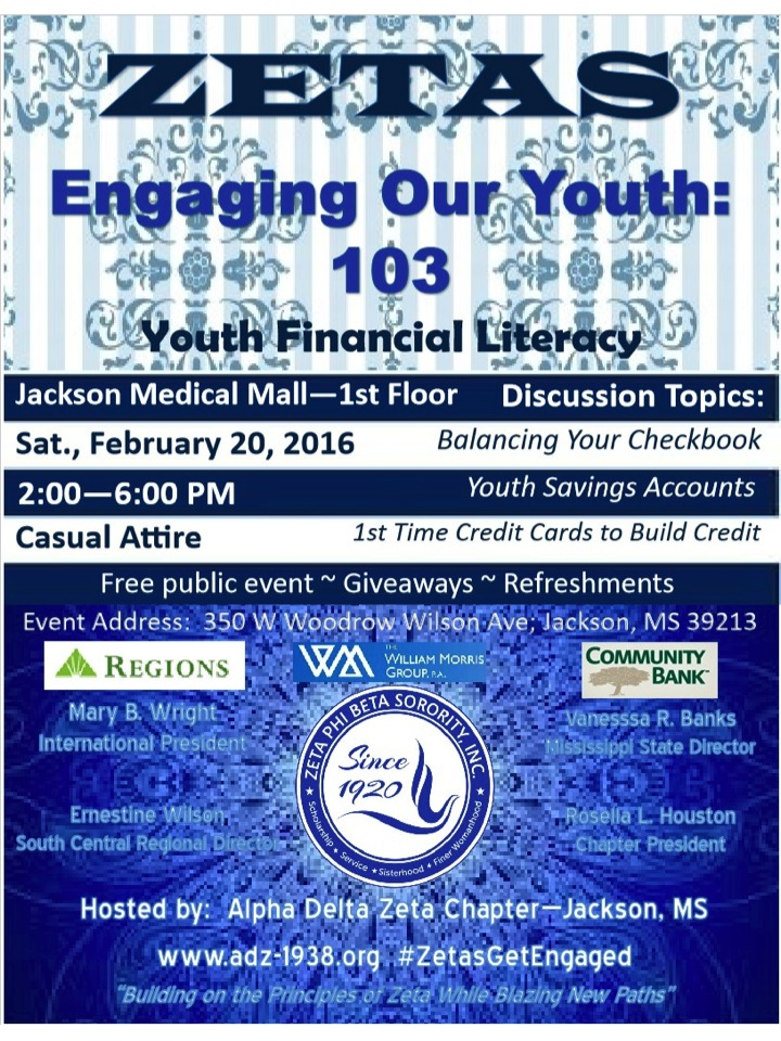 Zetas Engaging Our Youth 103 Event Flyer
