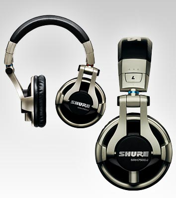 SHURE SRH750DJ Professional Headphones