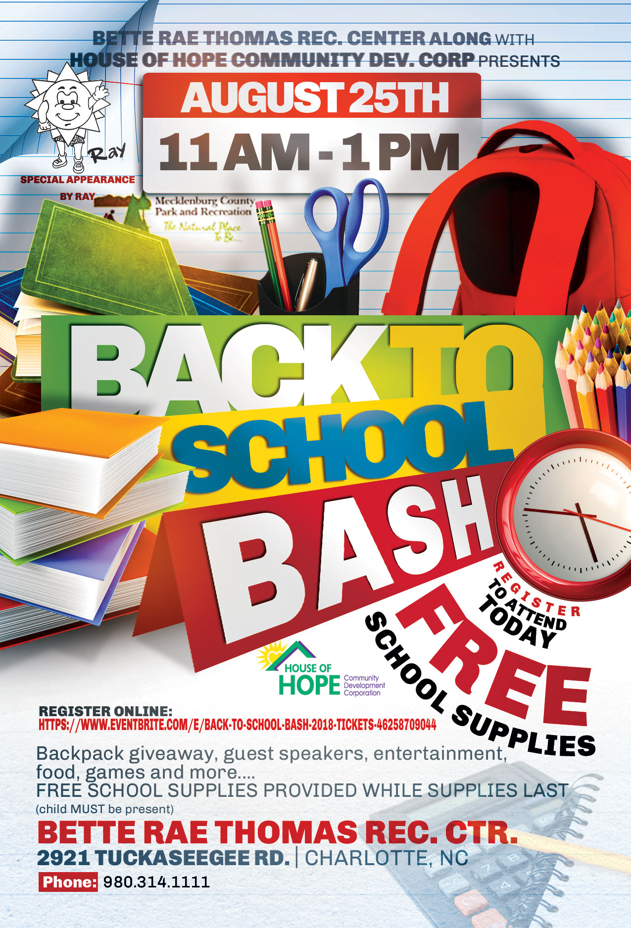 Back to School Bash flyer image