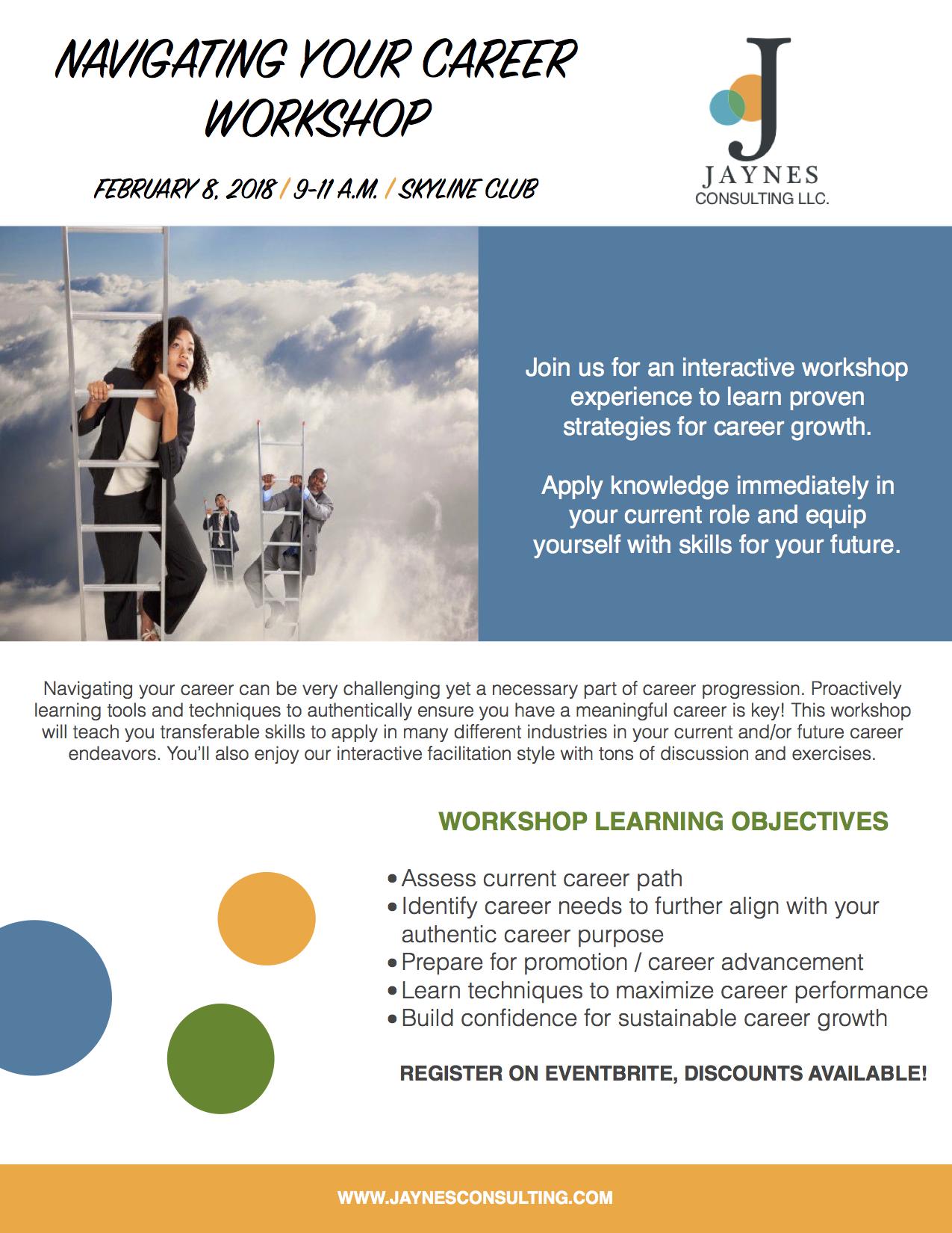 Navigating Your Career Flyer 1