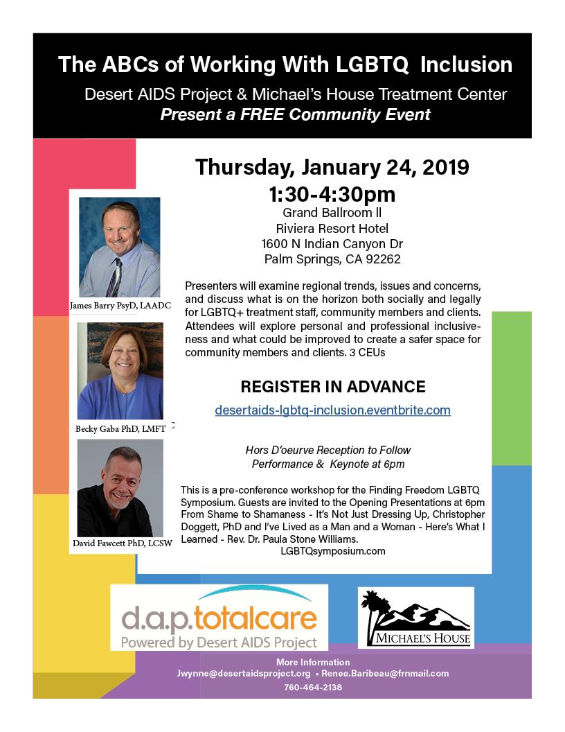 Desert AIDS presents a Free Community Workshop