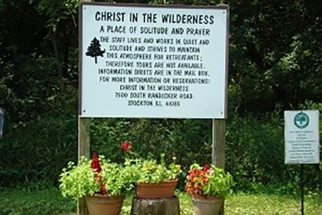 Christ In The Wilderness Welcome Sign
