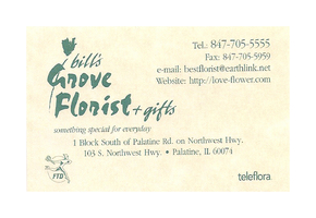Bill's Grove Florist Palatine Illinois