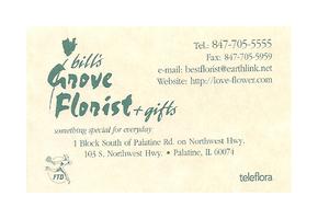 Bill's Grove Florist Palatine